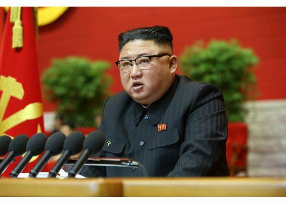 북한 김정은 국무위원장이 지난 5일 열린 노동당 제8차 대회에서 사업총화 보고를 했다고 노동신문이 6일 보도했다. /뉴시스