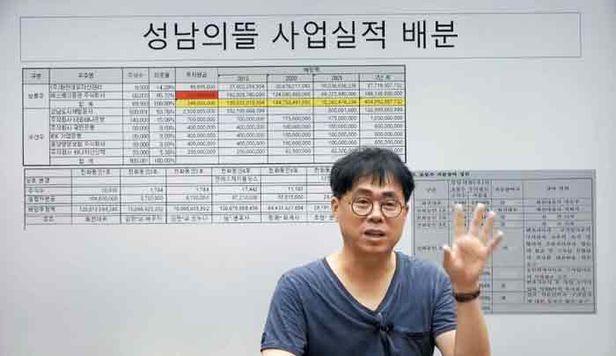 김경율 회계사가 자신의 유튜브 채널에서 대장동 특혜 의혹에 대해 설명하는 모습. /'김경율 해괴사의 일해라 절해라' 캡처