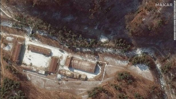 2019년 12월 촬영한 평북 용덕동 핵관련 추정시설 모습.