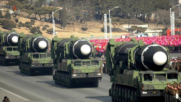북한의 대륙간탄도미사일(ICBM)./조선중앙TV 연합뉴스