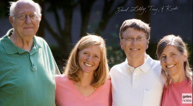 아버지 게이츠 시니어와 리비, 빌, 크리스티 게이츠 가족/게이츠노트