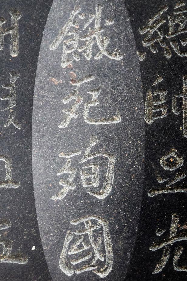 최익현 묘소 앞 '춘추대의비' 비문 부분. '餓死殉國(아사순국)'이라는 문구는 역사적 사실과 다르니 바로잡아야 한다. /박종인