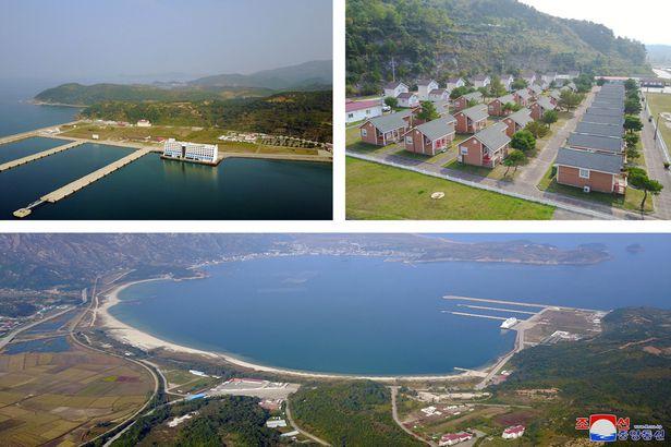 조선중앙통신이 2019년 공개한 금강산관광지구 모습. /조선중앙통신 연합뉴스